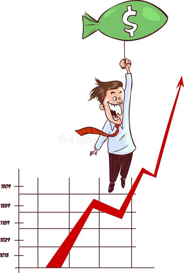 Aumentando o valor do dólar ilustração royalty free