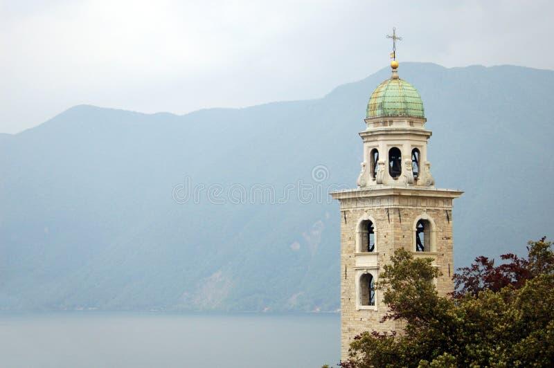 Aumentando sopra Lugano fotografie stock libere da diritti