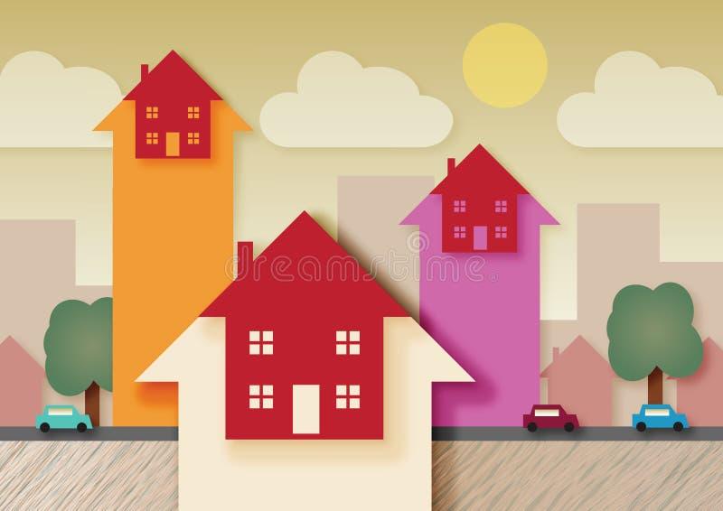 Aumentare del mercato immobiliare royalty illustrazione gratis