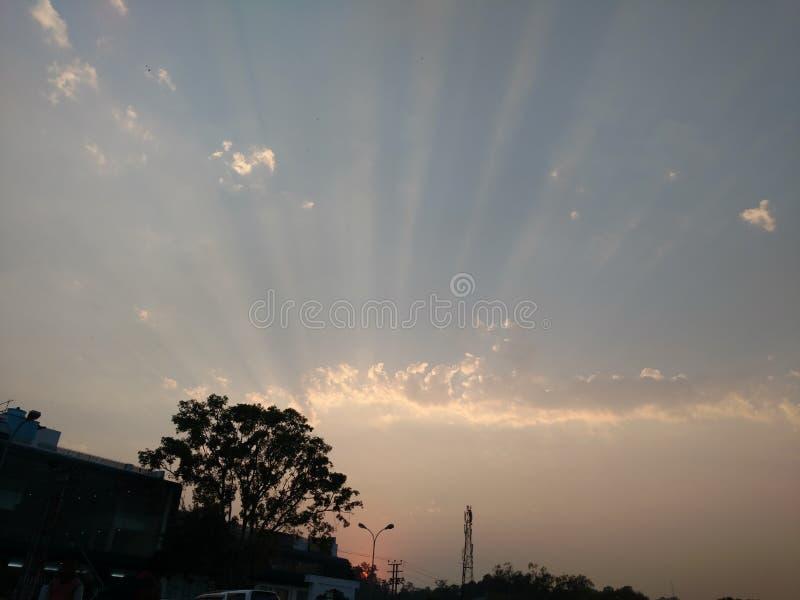 Aumentare di Sun immagine stock libera da diritti