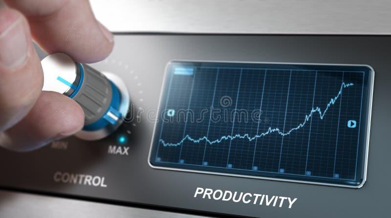 Aumente las velocidades de la producción ilustración del vector