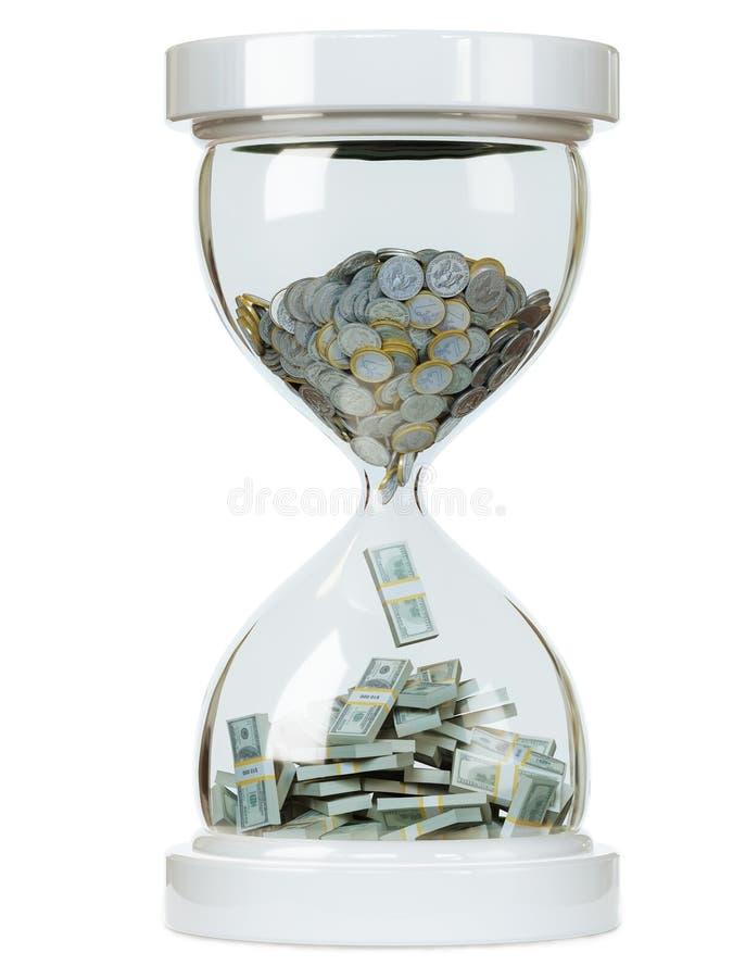 Aumente no salário de dinheiro no backgr isolado branco ilustração stock
