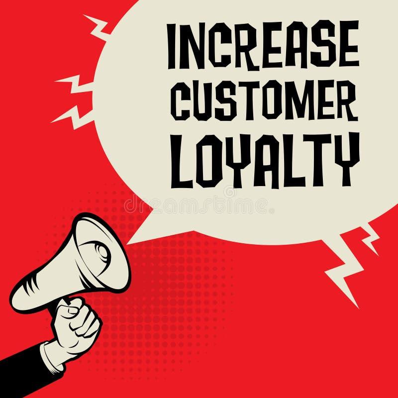 Aumente o conceito do negócio da lealdade do cliente ilustração royalty free