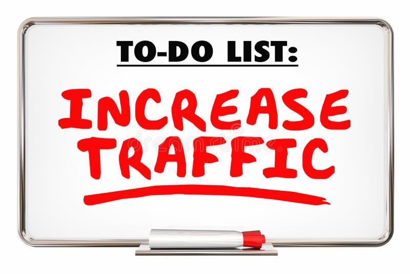 Aumente o tráfego mais loja do Internet da Web das visitas ilustração stock