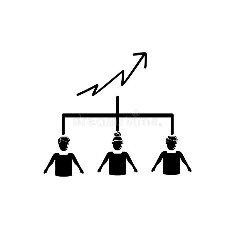 Aumente o vetor do ícone de Team Work isolado no fundo branco, aumente o sinal de Team Work, ilustrações do negócio ilustração do vetor