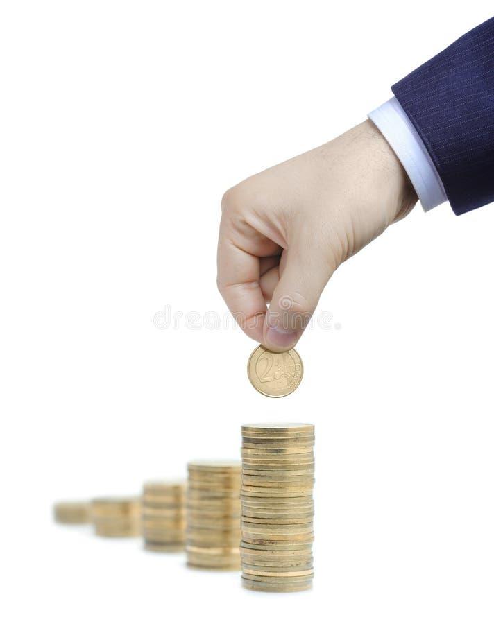 Aumente sua riqueza imagem de stock