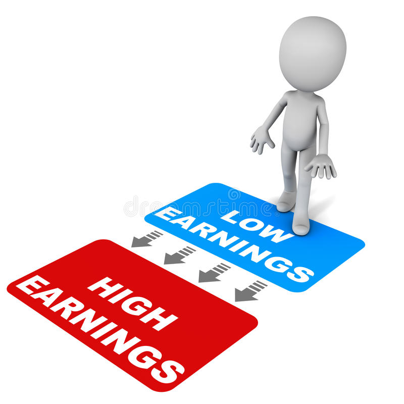 Aumenti i guadagni illustrazione di stock