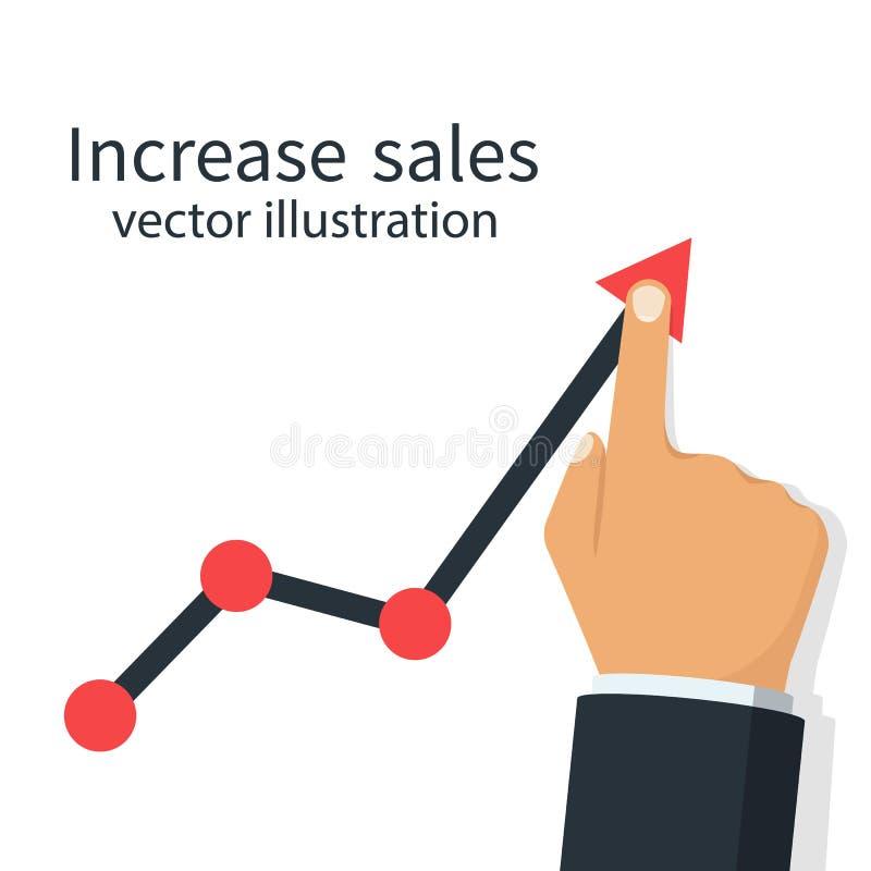 Aumenti il vettore di vendite illustrazione vettoriale