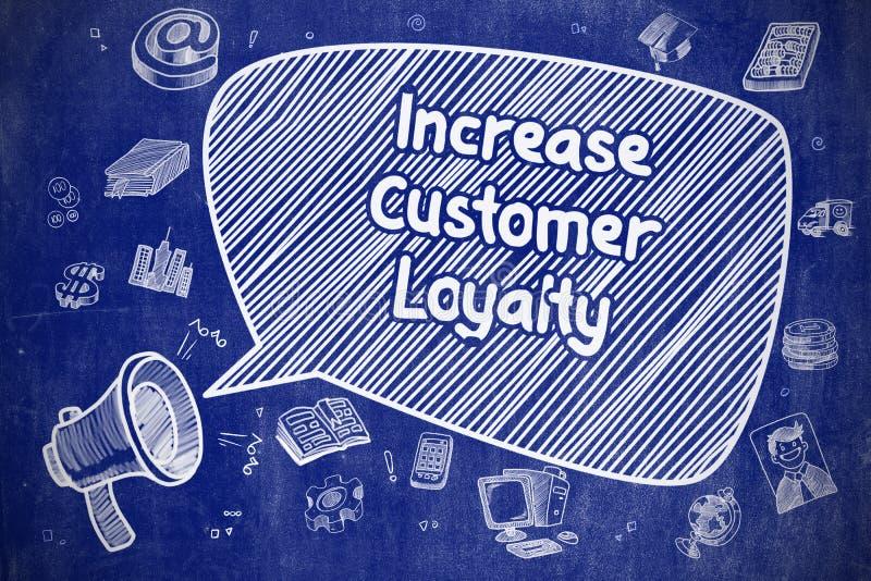 Aumenti la lealtà del cliente - concetto di affari illustrazione vettoriale
