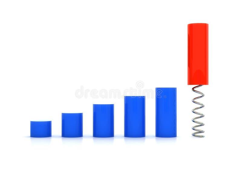 Aumenti lo schema illustrazione vettoriale