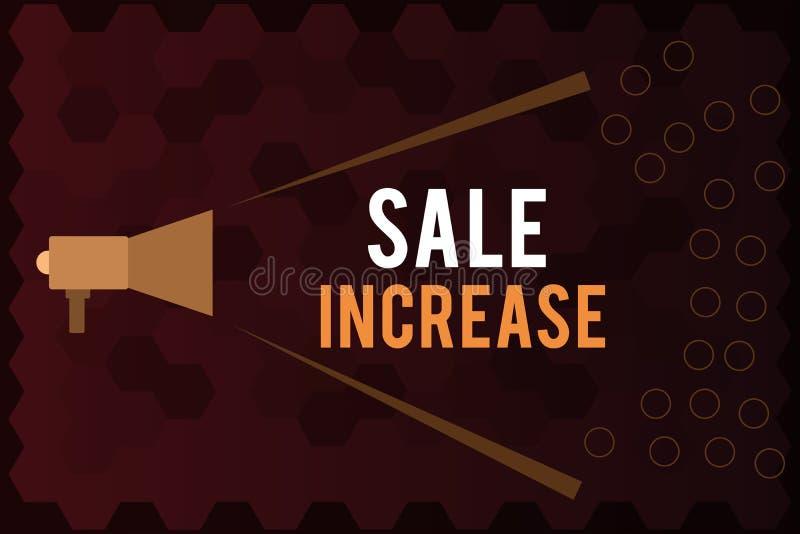 Aumento de la venta del texto de la escritura El volumen de ventas de media de significado del concepto ha crecido impulsa renta  ilustración del vector
