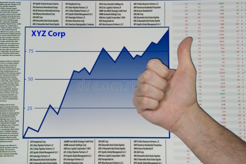 Aumento de las acciones y bonos fotos de archivo