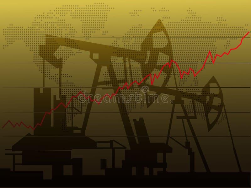 Aumento dei prezzi dell'olio royalty illustrazione gratis