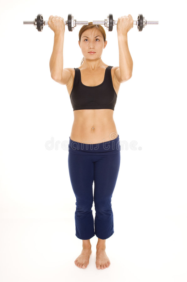 Aumento del hombro de la pesa de gimnasia fotografía de archivo