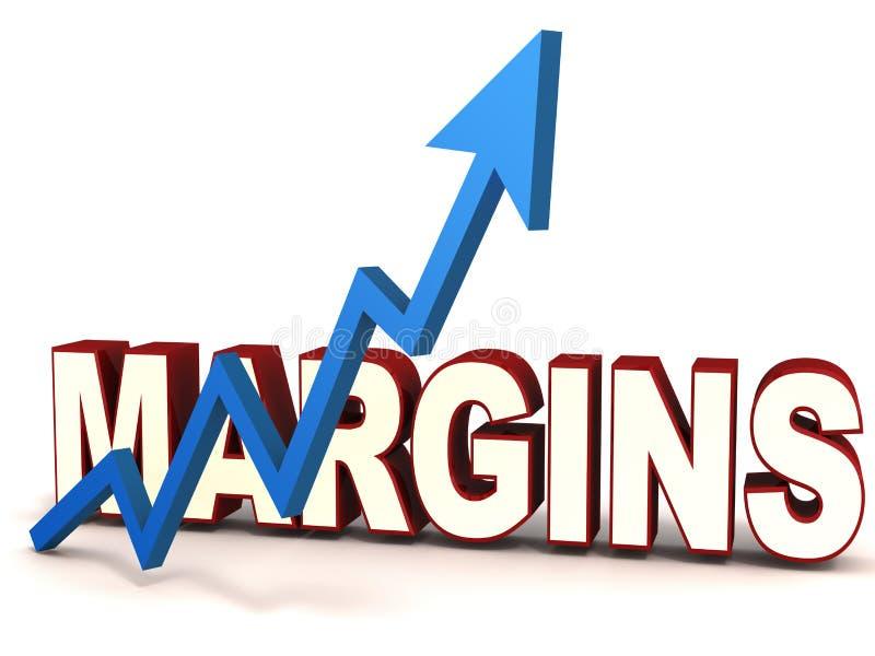 Aumento del margine illustrazione di stock