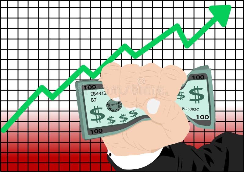 Aumento del mercato azionario illustrazione vettoriale