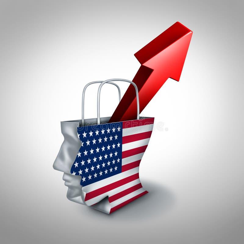 Aumento di Condidence del consumatore degli Stati Uniti illustrazione vettoriale