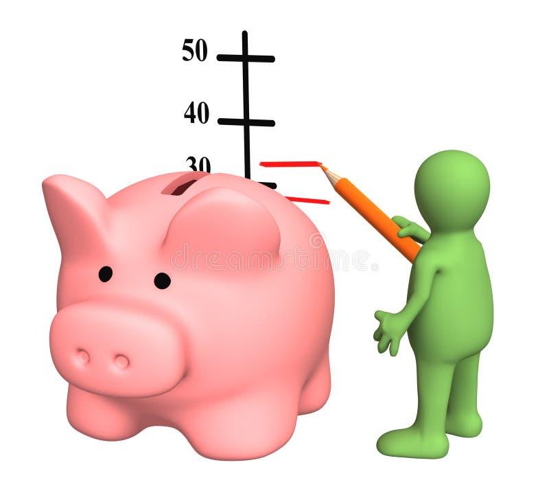 Aumento di un livello di redditi royalty illustrazione gratis