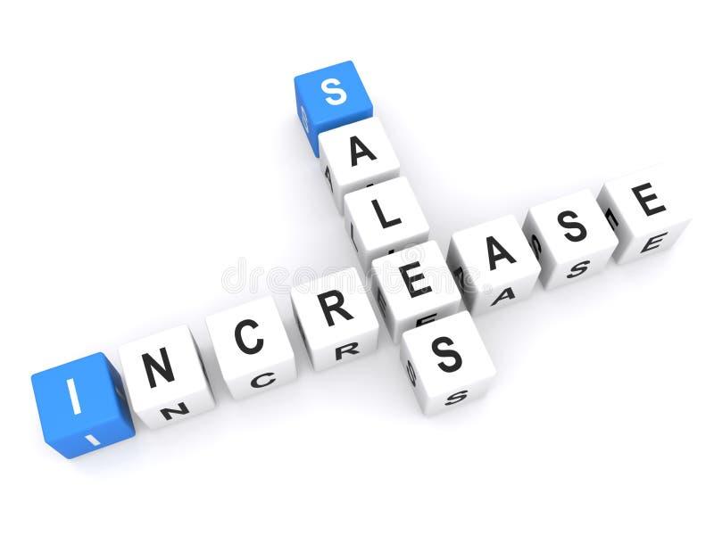 Aumento di vendite illustrazione di stock