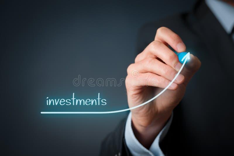 Aumento dos investimentos foto de stock