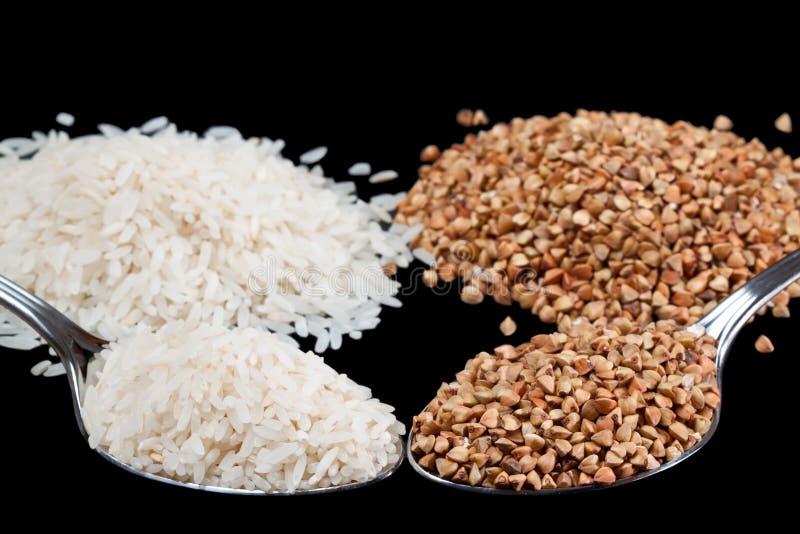 Aumento e grano saraceno fotografia stock libera da diritti