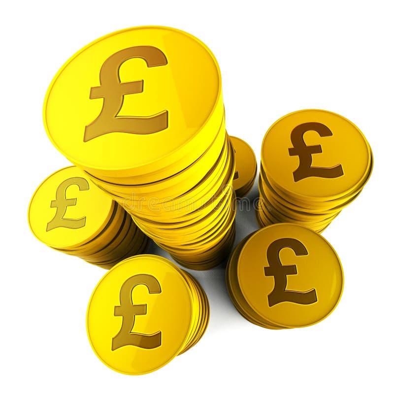 Aumento e valuta finanziari di mezzi di risparmio della libbra illustrazione vettoriale
