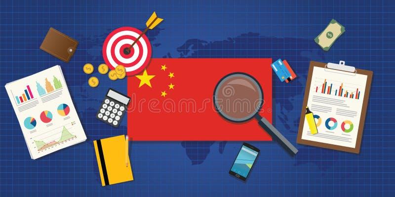 Aumento economico di economia della Cina royalty illustrazione gratis