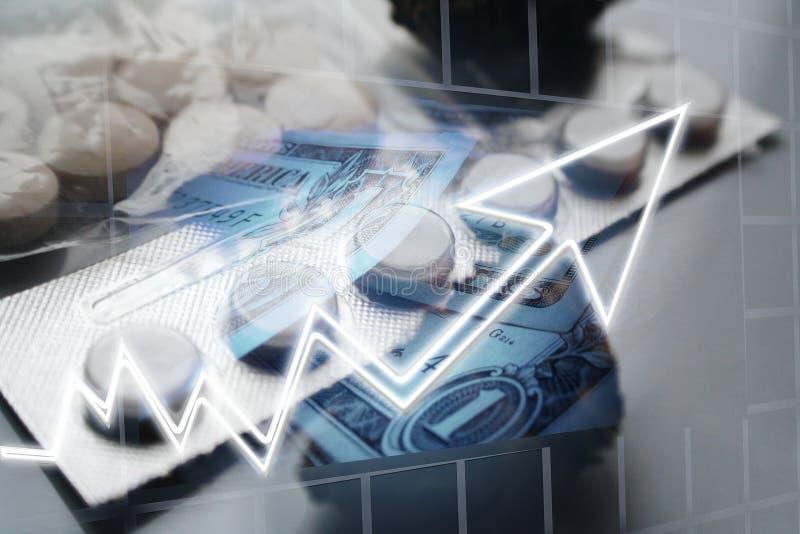 Aumento em custos dos cuidados médicos fotografia de stock royalty free