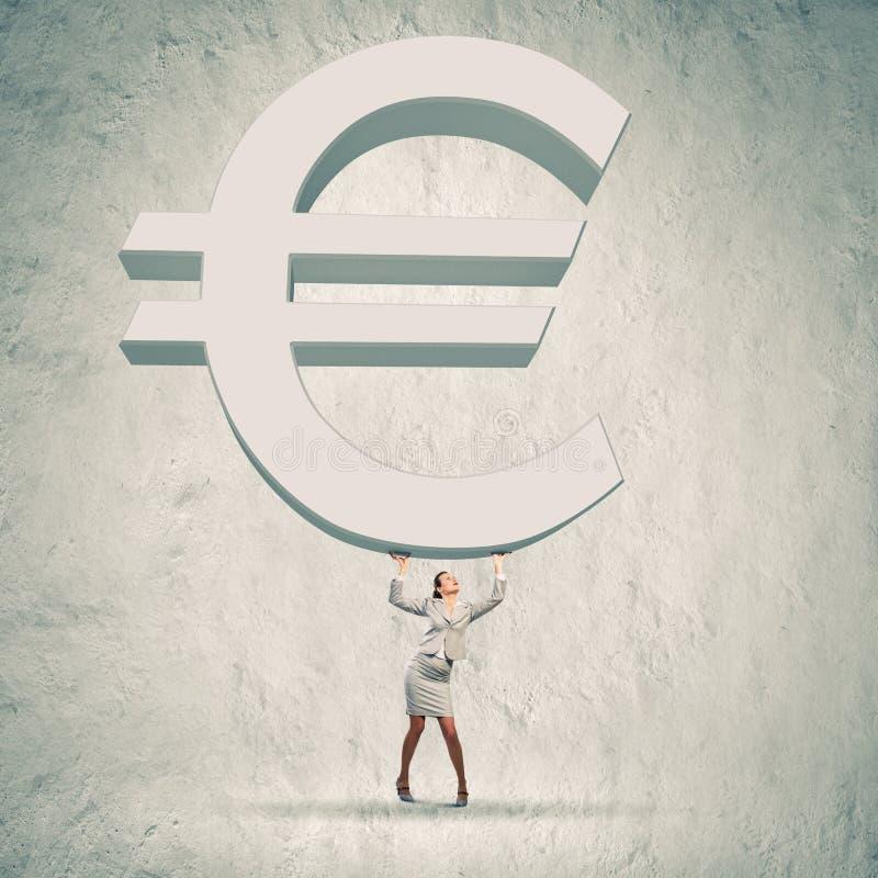 Aumento euro imágenes de archivo libres de regalías