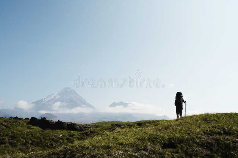 Aumento in Kamchatka fotografia stock