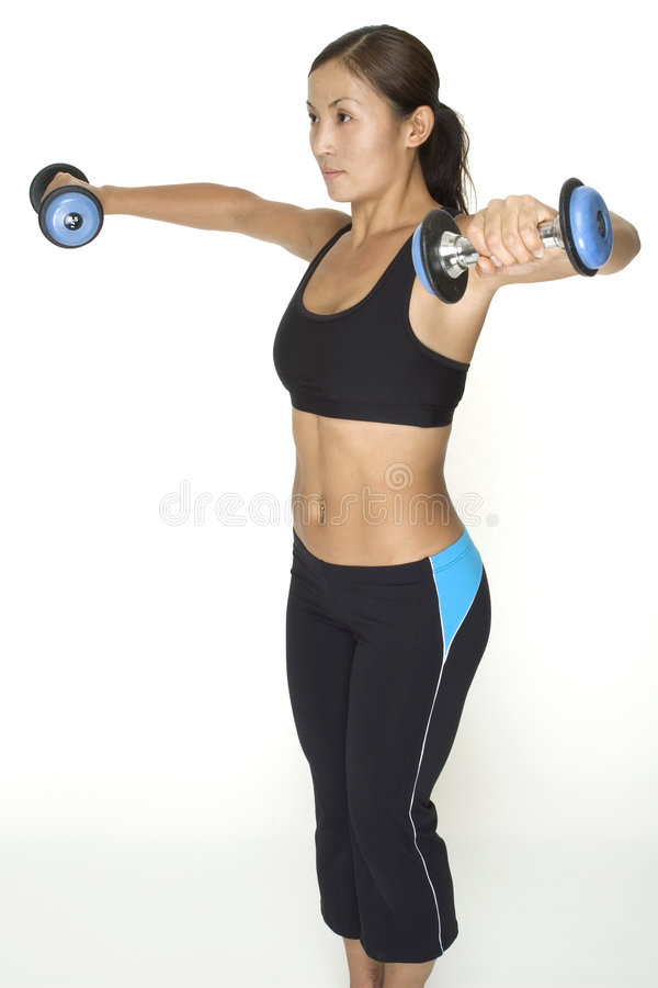 Aumento lateral 4 do Dumbbell foto de stock royalty free