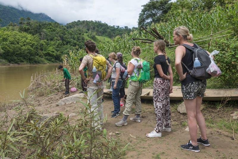 Aumento Luang Prabang, Laos della giungla fotografia stock