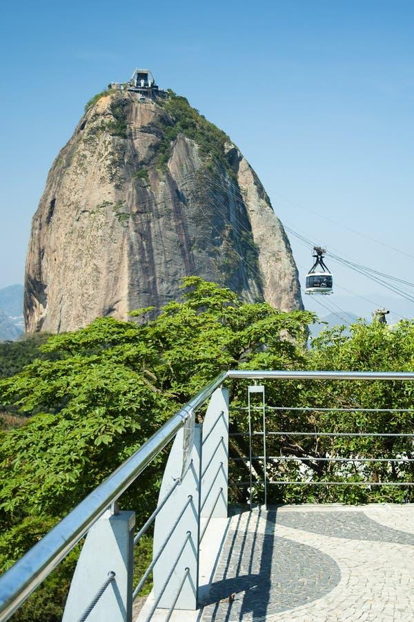 Aumento a Pão de Açucar Hill immagini stock libere da diritti