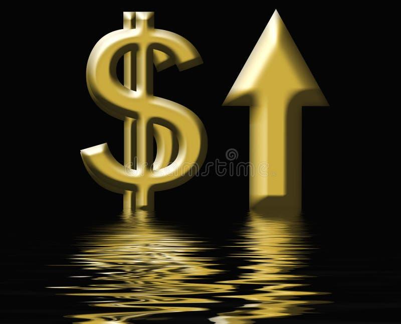 Aumentos do custo ilustração royalty free