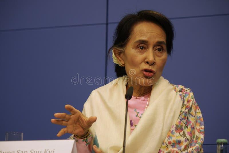 Aung San Suu Kyi royalty-vrije stock afbeelding