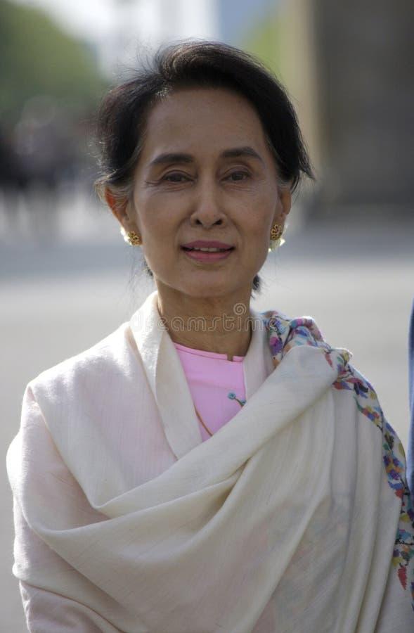 Aung San Suu Kyi stock afbeelding