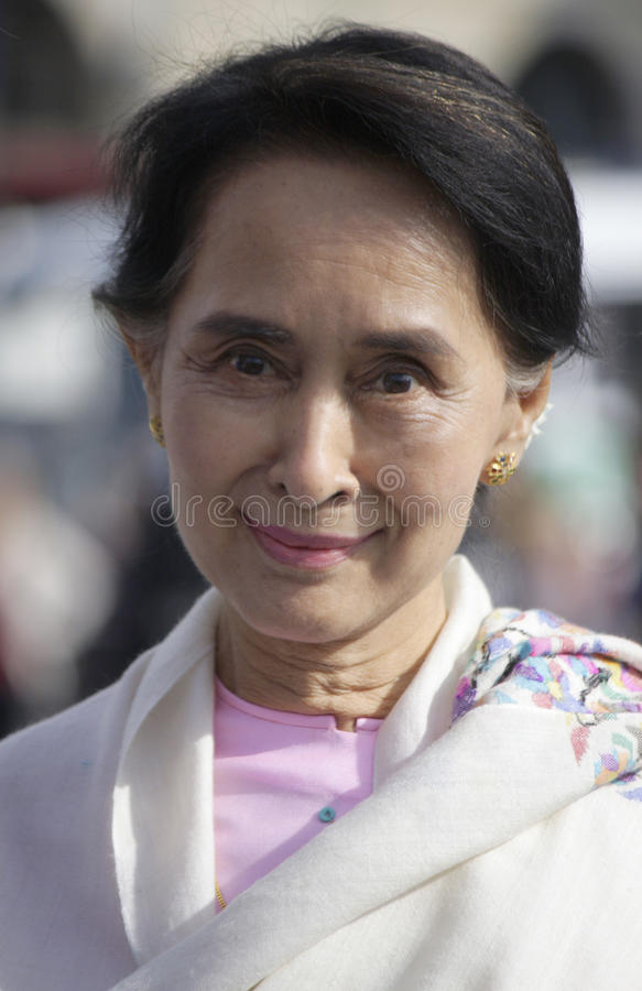 Aung San Suu Kyi royalty-vrije stock afbeeldingen