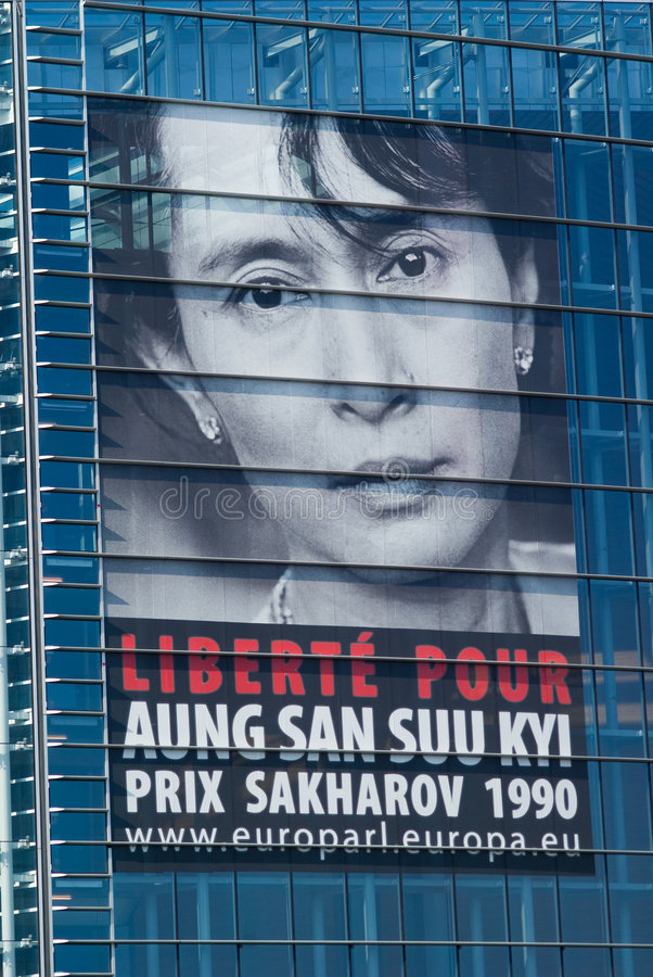 Download Aung San Suu Kyi Free Request Poster Editorial Stock Image - Image: 8037949