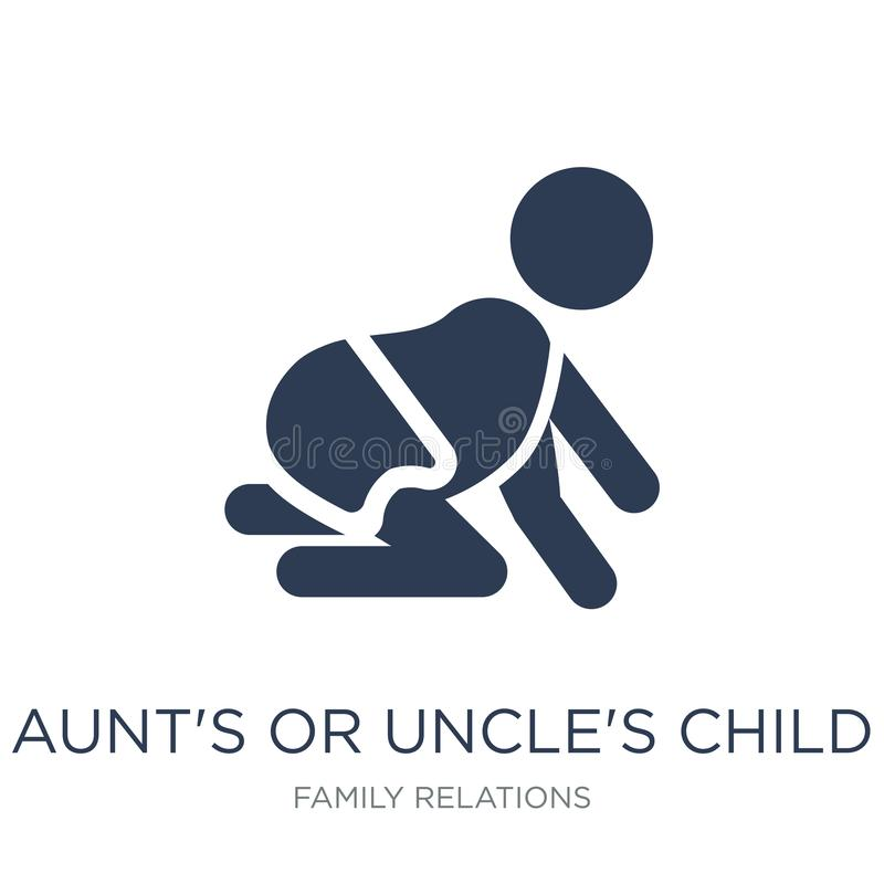 aunt's or uncle's child icon. Trendy flat vector aunt's or uncle royalty free illustration