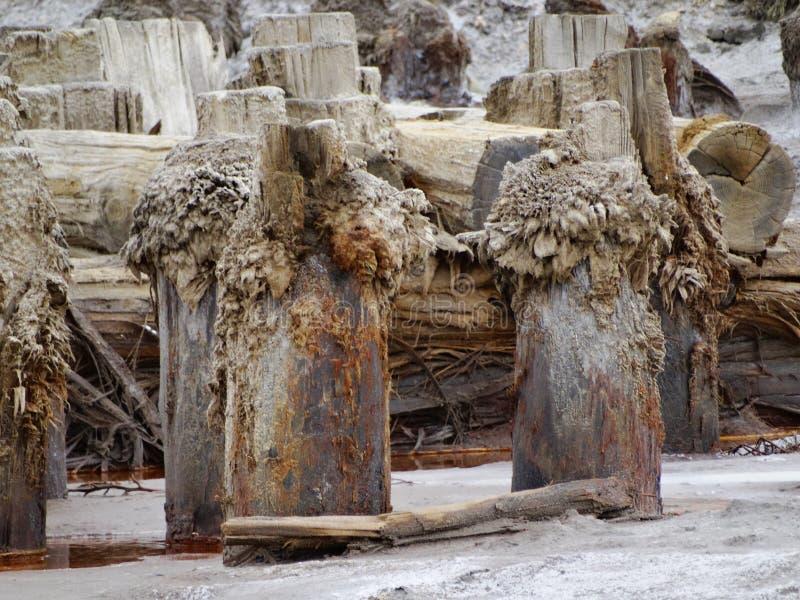 Auparavant du sel a été extrait photographie stock libre de droits