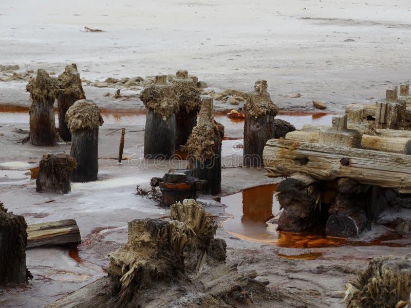 Auparavant du sel a été extrait photo stock