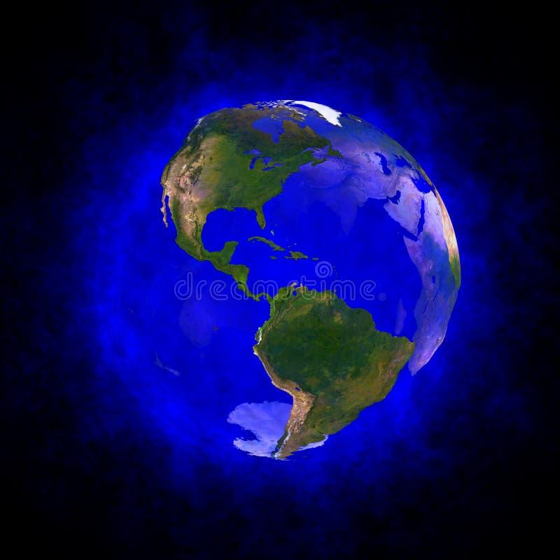 Aura azul da terra - América ilustração stock