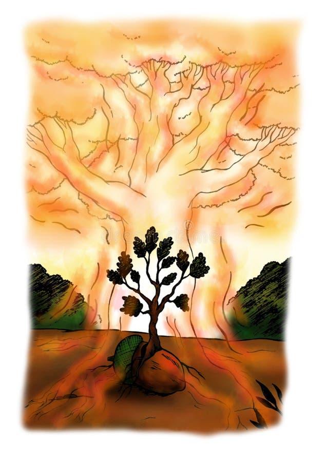 Aura da árvore (2008) ilustração royalty free