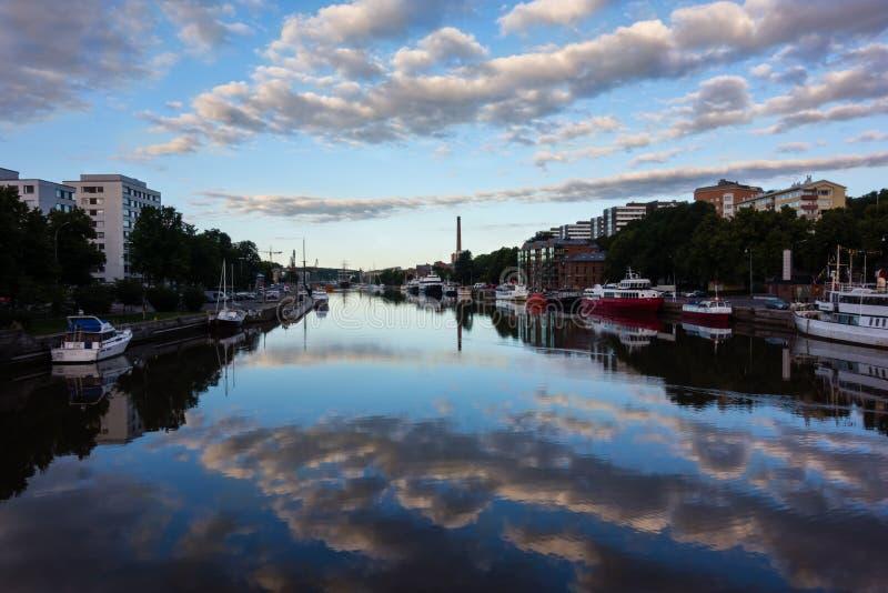 Aura del fiume a Turku fotografia stock libera da diritti