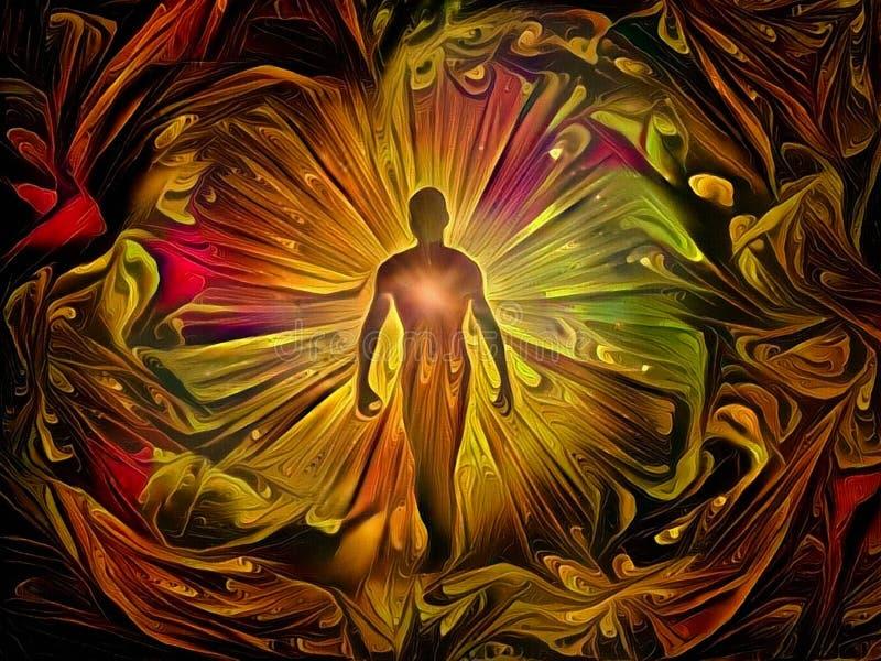 Aura lub dusza royalty ilustracja