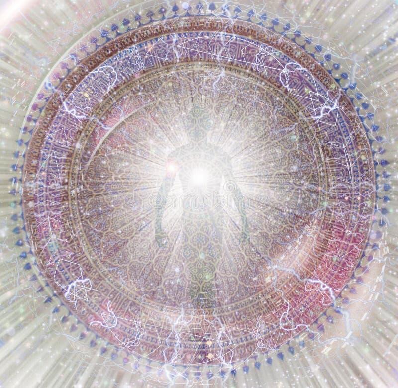 aura mandala ilustração stock