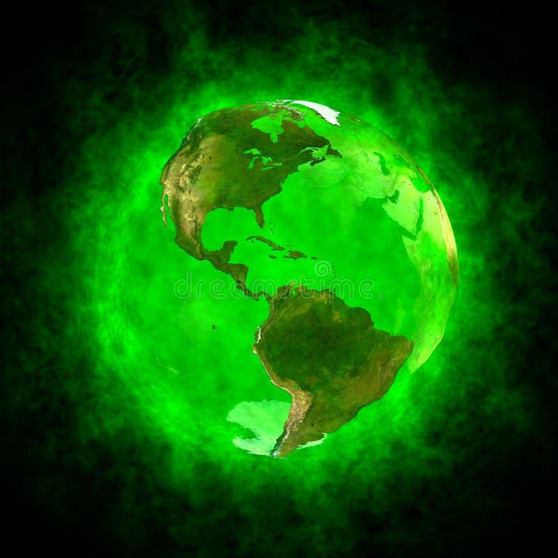 Aura verde da terra - América ilustração stock