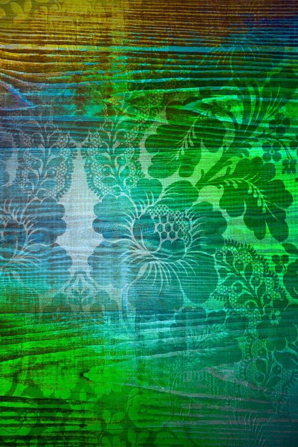 Aura verde dell'anima dell'albero in parete o in pavimento fotografia stock libera da diritti