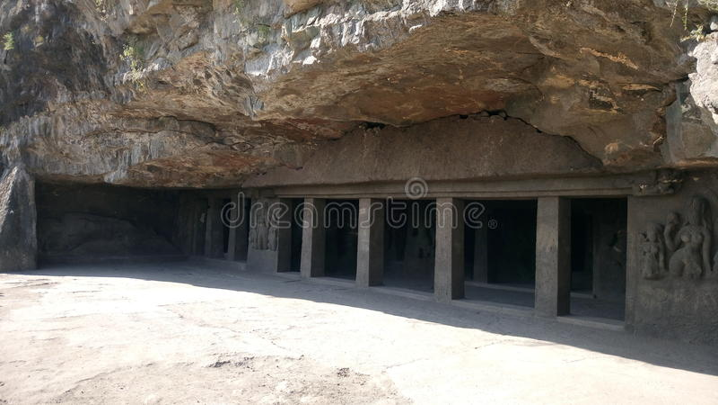Aurangabad grottor royaltyfri fotografi
