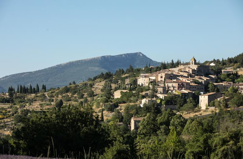 Aurel村庄在横谷,普罗旺斯 免版税图库摄影